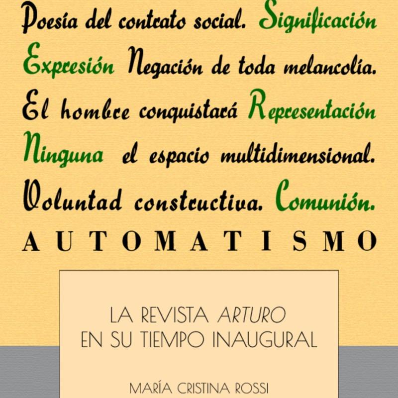 ROSSI M Cristina - La revista Arturo, en su tiempo inaugural-Fund Espigas.pdf